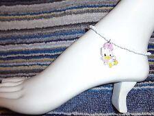 bracelet beads anklet stretchy beach Baby Daisy Duck enamel charm ankle
