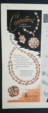 1951 Accessocraft Coppertone copper necklace earrings pin jewelry ad