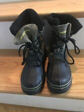 Green camo Army Skechers Boots Size 3 Duck Boots