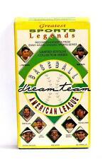 VHS TAPE VIDEO Sports Legends BASEBALL DREAM TEAM AMERICAN LEAGUE