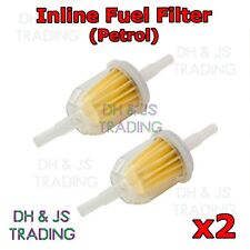 2x Inline Fuel Filter Small Universal Fit 6mm & 8mm Pipes - Petrol Fuel Filters