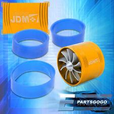 """2.5"""" Intake Turbonator JDM Single Fan Gas/Fuel Saver Gold For Golf Jetta Gti"""