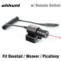 ohhunt Red Dot Mini Red Laser Sight Scope Dovetail  Weaver Picatinny Rail Mount