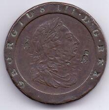 1797 countermarked George III Cartwheel Twopence MEDAGLIA (E CORONA 17) Edimburgo?