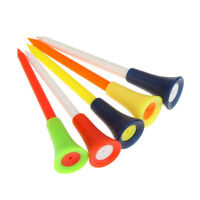 Hot Sale 50 Pcs Multicolor Golf tees 83mm Plastic Golf Tees Rubber Cushion SALE