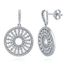 BERRICLE Sterling Silver CZ Sun Statement Dangle Drop Earrings