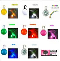 2 PACK - Waterproof Pet Dog Cat Collar LED Night  Safety Clip Tag Flashing Light
