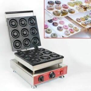 WOO 9 Grids Auto Donut Machine Nonstick Electric Cake Baker Doughnut Maker 240V