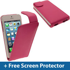 Pink Leather Flip Case for New Apple iPhone 5 5S SE Mobile Phone 4G Cover