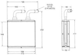 HVAC Heater Core Rear ACDelco Pro 15-60125