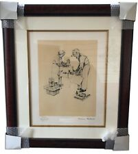 "Norman Rockwell Signed Framed Artist Proof Lithograph ""Christmas"" Artwork 1954"