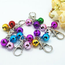 Coloured Pet Dog Bell Cat Animal Collar Clothe Charming Lobster Clasp Decor  SH
