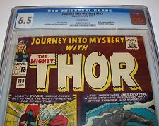 CGC 6.5 JOURNEY INTO MYSTERY #119 with THOR from Aug. 1965 with White Pages
