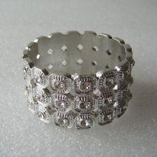 Napkin Rings set of 6  Pewter / Silver