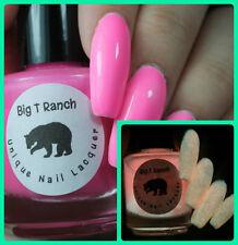Glow-in-the-Dark Nail Polish Top Coat - Pink - Sunrise - Nail Polish/Lacquer