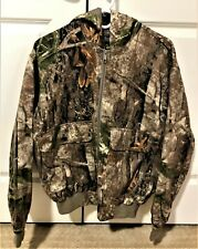 Cabela's Men's Zonz Woodlands Camo Full Zip Midweight Jacket with Hood Size - M