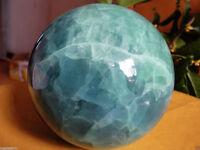 80MM Glow In The Dark Stone crystal Fluorite sphere ball Hot