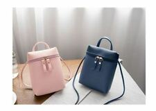 Korean Synthetic Leather Mini Sling Bag (Pink)