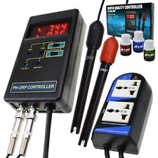 pH & ORP Redox Controller Water Quality Meter Tester Aquarium Hydroponics Tank