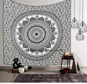 Indian Hippie Queen Tapestry Ombre Mandala Bohemian Wall Hanging Bedspread Throw