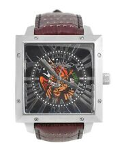 ED HARDY BY CHRISTIAN AUDIGIER DEFENDER EAGLE DE-EL GENTS MENS LEATHER WATCH