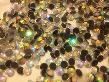 Quality DMC 100 ss20 Crystal AB Iron-on Hotfix Rhinestones