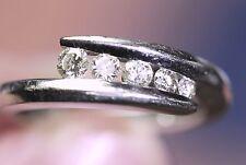 Benchmark 1/4 Round Cut Diamond Journey Wedding Band/Promise Ring 14K White Gold