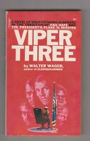 VIPER THREE By Walter Wager 1972 Vintage Paperback
