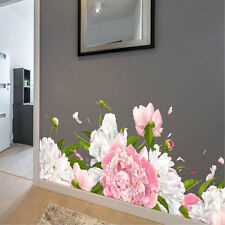 Flower Wall Stickers Peony Vinyl Wall Art Stickers Wall Decals Floral Sticker