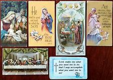 Vintage Christliches Gebet Karten, Fratelli Bromella Italien, Peka Germany Usw X