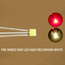 DT0605RWMDE NEU 20 Stk. Bi-Color SMD LED rot/warmweiss 0605 +Microlitze 20cm
