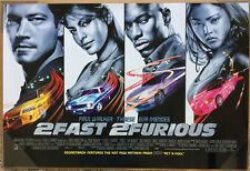 2 FAST 2 FURIOUS MOVIE POSTER 1 Sided ORIGINAL INTL Horizontal 40x27 PAUL WALKER