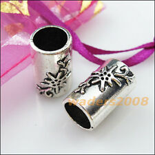 3 New Charms Flower Tube Spacer Beads Connectors 19.5mm Tibetan Silver