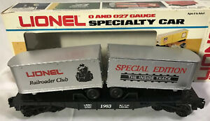 Lionel 6-0781 ~ Railroader Club Flat Car with Vans ~ NEW IN BOX