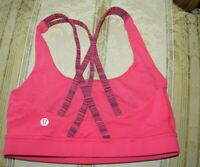 LULULEMON ENERGY BRA TANK SZ-4/XS RASPBERRY NEW