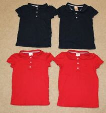 Lot of 4 Gymboree School uniform Play Proof polo shirts red blue girls size 6