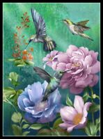 Hummingbird Garden II - Chart Counted Cross Stitch Patterns Needlework DIY DMC