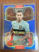 Eden Hazard 37/299 Blue Parallel 2017-18 Panini Select Soccer Belgium