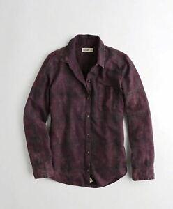 Hollister Womens Oversized Flannel Shirt, Purple Plaid (SML) - BNWT!