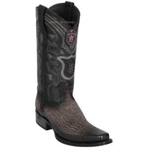 Men's Los Altos Genuine Shark Western Cowboy Boots Square Toe Wide Width