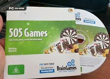 Brain Games - 505 Games Cards Board Sports Action -  PC GAME- FREE POST