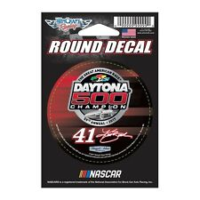 "Kurt Busch 2017 Wincraft #41 Daytona 500 Winner Round Decal 3"" FREE SHIP!"
