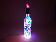 Flaschen Lampe GREY GOOSE Vodka -  mit 80 LEDs Warmweiß + Multicolor UMSCHALTBAR