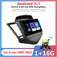 For Chevrolet Cruze 2009-2014 W/Canbus 9'' Android 9.1 Car Radio GPS Mirror Link