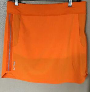 NWT Ralph Lauren RLX Golf Women's Solid Skirt/Skort Orange/French Blue Size LG