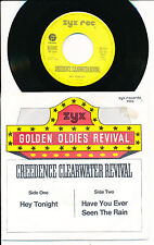 "CREEDENCE CLEARWATER REVIVAL 45 TOURS 7"" GERMANY HEY TONIGHT"