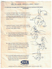 1960s Tressy Doll Instructions for Hair Growth