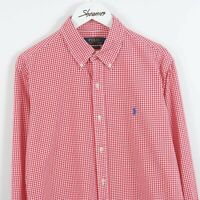 Mens Polo Ralph Lauren Custom Fit Gingham Check Long Sleeve Shirt Size M