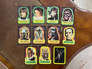 Vintage Star Wars series 1 stickers complete set 1-11 blue series 1977