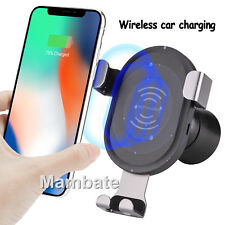 10W QI Wireless Charger Car Mount Holder Charging For iPhone X 8 Samsung Note S8